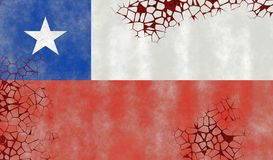 Illustration of a Chilean Flag Stock Photo