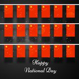 Illustration of China National Day background Royalty Free Stock Images