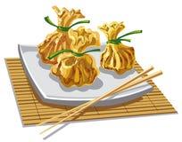Illustration of chineese dumplings Stock Photo