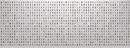 Illustration of Chinese Characters background Stock Photography