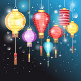 Illustration Chinese lanterns Royalty Free Stock Image