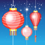 Illustration Chinese lanterns Royalty Free Stock Photos