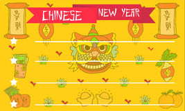 Illustration Chinese New Year Greeting Card. Collection Royalty Free Stock Photos