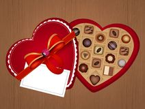 Chocolates as a gift for Valentine`s Day. Illustration of chocolates as a gift for Valentine`s Day Stock Photo