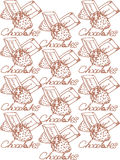 Illustration Chocolats avec des fraises Pour vous Image stock