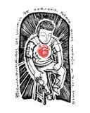 Illustration of a Christian biblical beatitude Royalty Free Stock Photo
