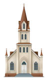 Illustration of christian church Royalty Free Stock Photography