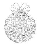 Illustration of christmas ball Royalty Free Stock Images