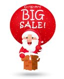 Christmas big sale with Santa claus Stock Photos
