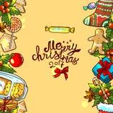 Illustration christmas border Royalty Free Stock Photo