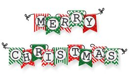 Christmas bunting flags Royalty Free Stock Photos