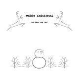Illustration, Christmas card Stock Images