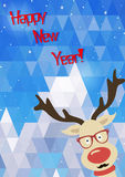 Illustration of Christmas funny deer Royalty Free Stock Photography