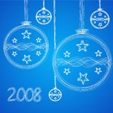 Illustration of christmas greeting card Stock Images