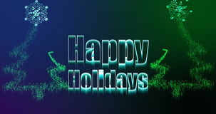 Illustration of christmas greeting with happy holidays message