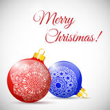 Illustration Christmas multicolor balls isolated. On white background - vector Royalty Free Stock Photography