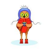 Illustration Christmas owl Stock Images