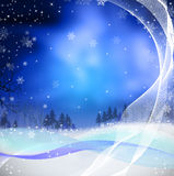 Illustration for Christmas with pine tree and sno Stock Images