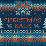 Illustration of Christmas Sale: Scandinavian style seamless knit Stock Image