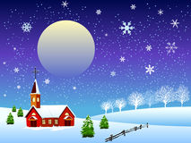 Illustration of christmas snow Stock Image
