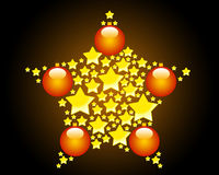 Illustration of a Christmas star Stock Photography