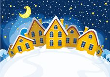 Illustration of Christmas suburbs Stock Image