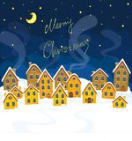 Illustration of Christmas suburbs Royalty Free Stock Images