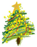 Illustration - Christmas Tree Stock Image