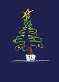 Illustration of Christmas tree royalty free illustration