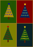 Illustration of Christmas Tree Stock Photos