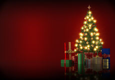 Illustration Of Christmas Tree with copyspace Royalty Free Stock Photography