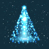 Illustration of christmas tree. This is file of EPS10 format Royalty Free Stock Photography
