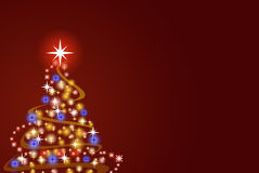 Illustration of christmas tree Royalty Free Stock Photography