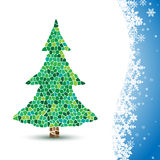 Illustration Christmas tree on winter background. Royalty Free Stock Images