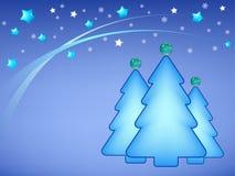 Illustration of Christmas trees. Illustration of stylish christmas tree in shiny stars background Vector Illustration