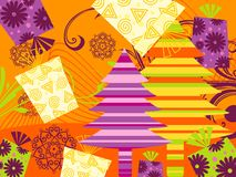 Illustration of christmas wallpaper Stock Images