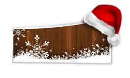 Christmas web banner. Illustration of christmas web banner decorated with santa hat Stock Images