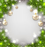 Illustration Christmas winter background with glass balls -  Royalty Free Stock Image