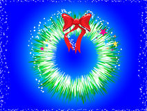 Illustration Of Christmas Wreath Stock Images