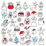 Illustration of christmass items Stock Photos