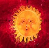 Illustration. Chubby and funny sun. Royalty Free Stock Image