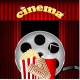 Illustration of the cinema Stock Photo