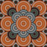 A illustration circle background 3. A illustration based on aboriginal style of dot painting depicting circle background 3 Royalty Free Stock Images