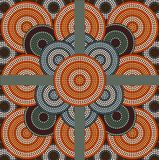 A illustration circle background 4. A illustration based on aboriginal style of dot painting depicting circle background 4 Stock Photography