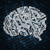Illustration of circuit board in human brain form Royalty Free Stock Images