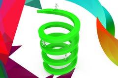 illustration circulaire de flèche de l'homme 3d Photo stock