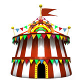 Illustration of a circus tent Royalty Free Stock Photos