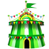 Illustration of a circus tent Royalty Free Stock Image