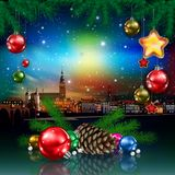 Christmas in city Royalty Free Stock Image