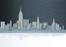 Big city illustration royalty free illustration
